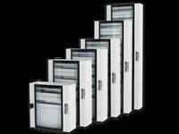 Kovinske razdelilne nadometne omare z varnostnimi steklenimi izbočenimi vrati
