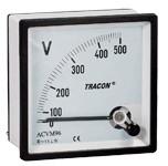 Analogni voltmeter za izmenično napetost, 72×72mm, 600V AC