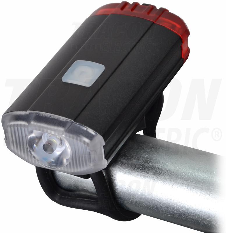 LED svetilka za kolo, sprednja, zadnja 2W; 5000K; 3,7 V / 800 mAh, 150lm, IP54, 2/5h