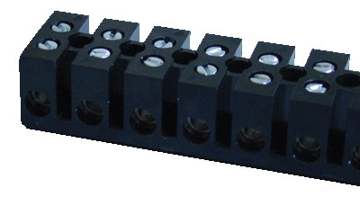 Dvoredna bakelitna vrstna sponka 40A/450V, 12 členov, M4, max. 10 mm2