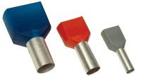 Votlica-dvojček 2x4mm2, L=12mm, siva