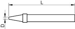 Konica spajkalnika za spajkalne postaje, zašiljena 0,4mm, za FP