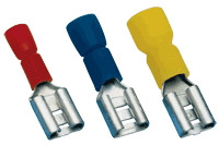 Izolirani natični kontakt 2,5 mm2, 6,3x0,8 mm, moder