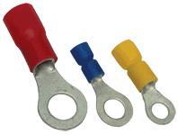 Očesni kabelski čevelj 2,5 mm2, d1=2,3 mm, d2=10,5 mm, moder