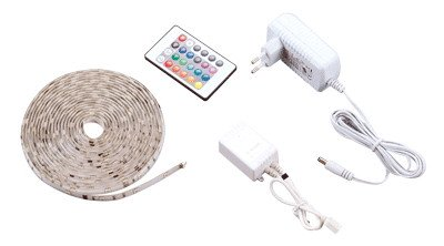 Set LED traku, za zunanje prostore SMD5050; 30 LED/m; 7,2 W/m; W=10 mm; RGB; IP65