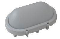LED zidna svetilka-kovinska, ovalna, bela 230V AC, 8W, 4000K, IP65, 640lm