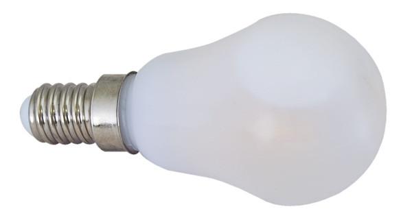 LED žarnica - sveča - sistem hlajenja z oljnim polnilom 230 V, 50 Hz, E14, 4 W, P45, 3000 K, 400 lm