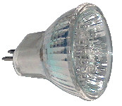 LED žarnica, MR16, 12V 1,2 W 18LED, rumena, G5.5
