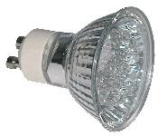 LED žarnica, MR11, MR230, 230V 1,2 W 18LED, bela, GU10