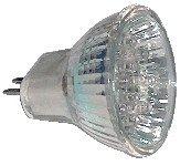 LED žarnica, MR11, 12V 0,8 W 12LED, rdeča, G5.5