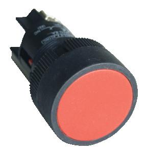 Plastična tipka, rdeča, 1V, 22mm, 400V/0,4A, IP42
