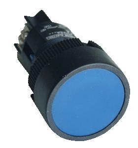 Plastična tipka, modra, 1Z, 22mm, 400V/0,4A, IP42