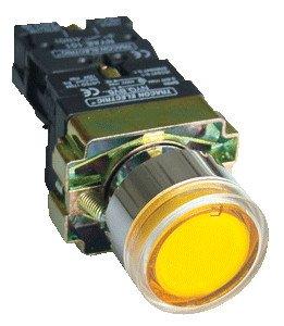 Svetilna tipka, rumena, glim, 1×NO, 3A/400V AC, 230V, IP42