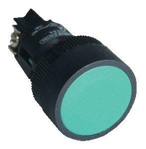Plastična tipka z ohišjem, zelena 1Z, 22mm, 400V/0,4A, IP44