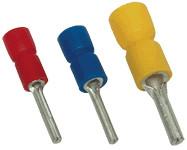 Izolirani igličast kontakt 1,5mm2, l1=12 mm, d1=1,8 mm, rdeč