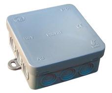 Prožna razvodnica na nadometno montažo 85x85 mm, IP54