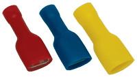 V celoti izoliran natični kontakt 1,5mm2, 2,8x0,5 mm, rdeč