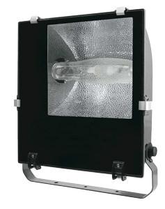 Kovinski halog. reflektor z dušilko 150W, E27, asimetrični