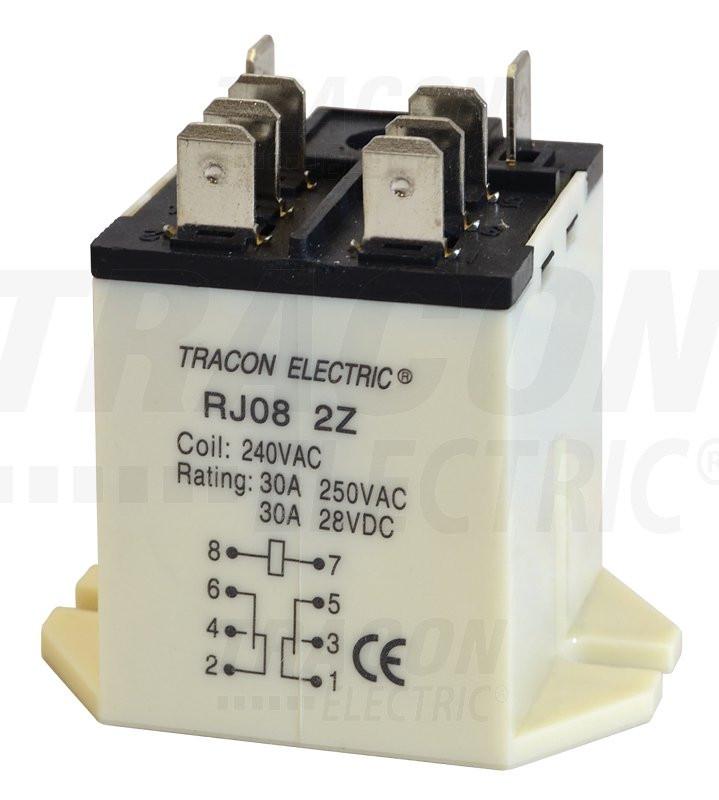 Rele velike moči 48 V AC z 2 preklop. kontakt., 230 V AC / 28 V DC