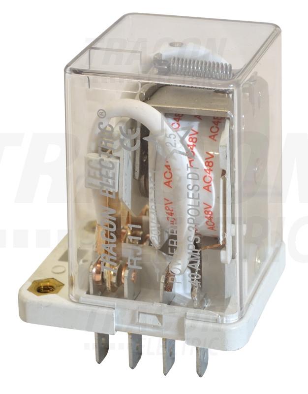 Rele velike moči 110 V AC s 3 preklop. kontakt., 230 V AC / 28 V DC