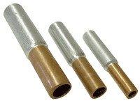 Cu-Al vezni tulec 2,5/4 mm2, d1=2,5 mm, d2=3,7 mm