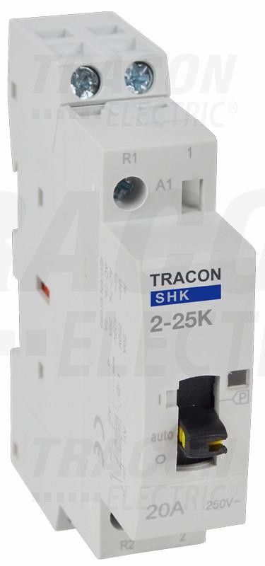 Kontaktor 230 50Hz, 1P, 2×NO, AC1/AC7a, 25A