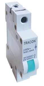 Vrstna LED signalna svetilka AC/24V, modra