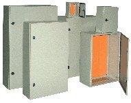 Kovinska razdelilna omara IP55 400x300x200 mm