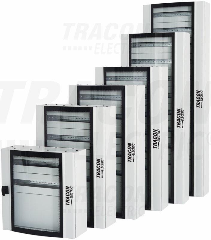 Kovinska razdelilna omara-ukrivljena varnostna steklena vrata 600×600×200mm / 72M (24×3 mod)