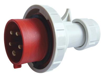 Industrijski vtikač 16A, 400V, 3P+N+E, IP67 s povečano zaščito