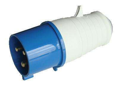 Industrijski vtikač 32A,  230V, 2P+E, 6h, IP44  z zunanjo uvodnico