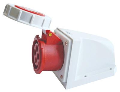 Industrijska vtičnica, zidna, 16A, 400V, 3P+E, IP67
