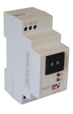 Časovni rele- dvofunkcijski, modularni, širina 2 modulov 230V AC/, 0,1s-999h, 5A/250V AC, 5A/30V DC