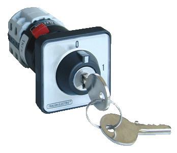 Glavno stikalo z ohišjem in ključavnico, 4P, 20 A, 400 V, ON-OF