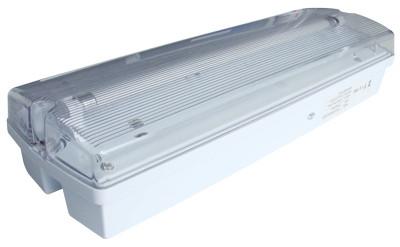 Zasilna neonska svetilka, 230V, T5, G5, 1×8W, 3h, 2,4V/4,5Ah, Ni-Cd, IP65