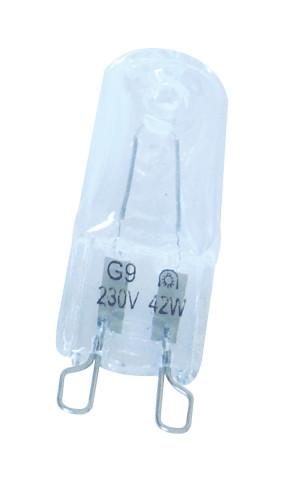 Halogen žarnica, prozorno steklo 230V, 50Hz, C, G9, 28W, 2700K, 2000h