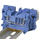 Vrstna sponka VS, ničelna, 0,5-6 mm2, 52 A, modra