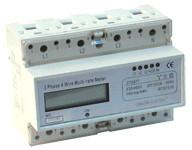 Števec električne porabe - LCD prikaz, neposredno merjenje, 3F, 400V / 20 (100)A