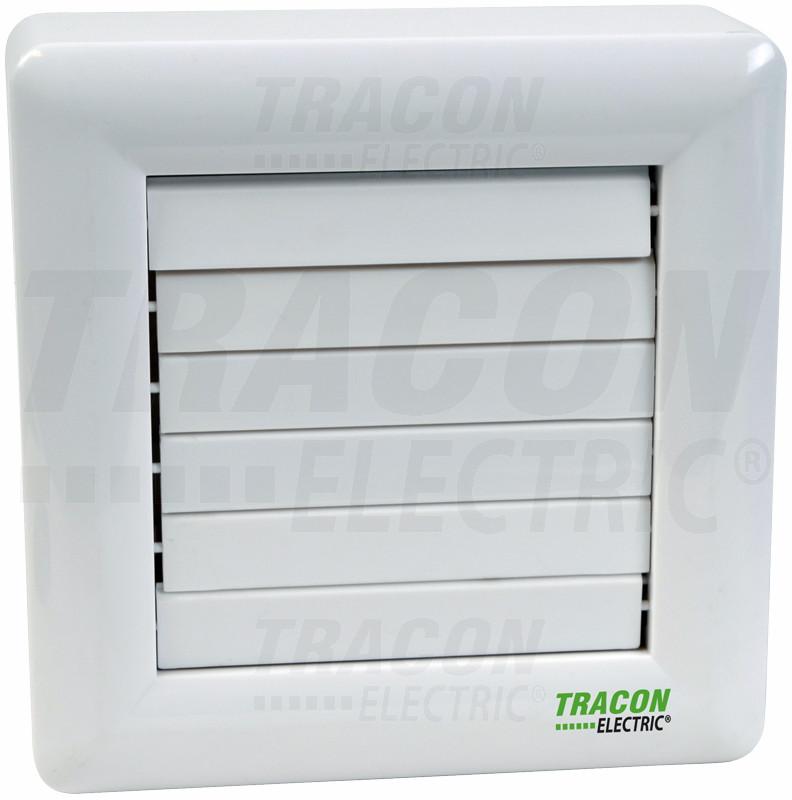 Ventilator za kopalnico z loputo (kroglični ležaj) 230 VAC, 15 W, 80 m3 / h, 33 dB, 100 mm