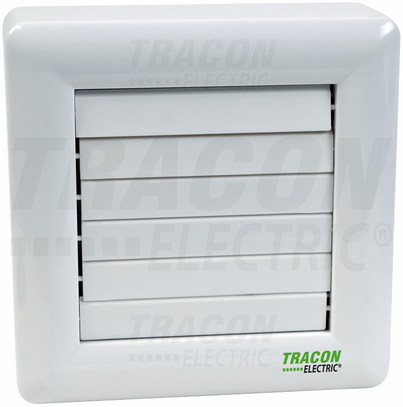 Ventilator za kopalnico z loputo (kroglični ležaj + timer + senzor vlažnosti) 230 VAC, 15 W, 80 m3 / h, 33 dB, 100 mm