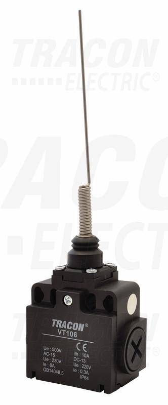 Pozicijsko stikalo z vzmetno palico 1×NO+1×NC, 6A/230V AC, IP65