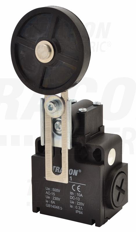 Pozicijsko stikalo s koleščkom 1×NO+1×NC, 6A/230V AC, IP65