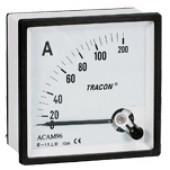 Analogni ampermeter za neposredno merjenje izmeničnega toka, 96×96mm, 50A AC