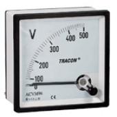 Analogni voltmeter za izmenično napetost, 72×72mm, 250V AC