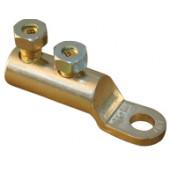Al kabelski čevelj, 2 vijačni, z odprtino d=12 mm, 16-70 mm2