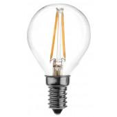 COG LED žarnica-okrogla-prozorno steklo 230 VAC, E14, 2 W, 200 lm, P45, 3000K