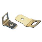 Z vijakom pritrjen vtični kontakt 6,3x0,8 mm 90°, M5