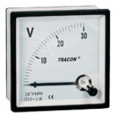 Analogni voltmeter za enosmerno napetost, 72×72mm, 30V DC