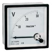 Analogni voltmeter za enosmerno napetost, 72×72mm, 600V DC