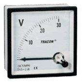 Analogni voltmeter za enosmerno napetost, 72×72mm, 450V DC